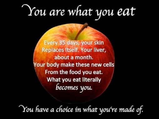 nutrition--you are what you eat, what you eat becomes a part of you.preview