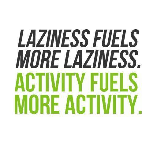 laziness or activity